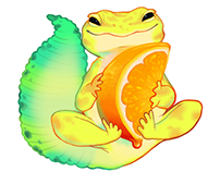 Orange Sorbet Gecko