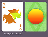 Geometric Africa Playing Cards