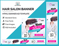 Hair Salon Banner - HTML5 Ad Templates