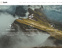 Spark WordPress Theme - Features Section