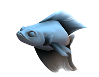 Rendered and Animated Fish