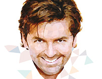 Thomas Anders, low-poly illustration
