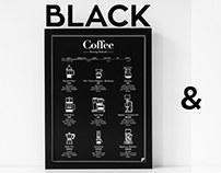 Coffee Brewing Methods - B&W