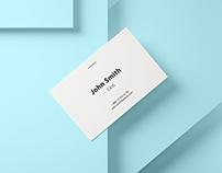 85x55 Business Card Mockup Set 1