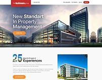 Kohnen Construction Group Web UI UX