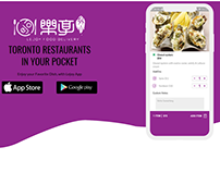 Popular mobile app for food delivery.