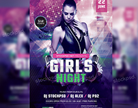 Girls Night Party – Free PSD Flyer Template