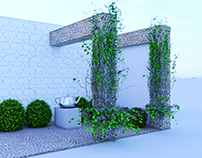 Cena Teste_Grow Ivy_3ds Max 2018+PS CC 2017...