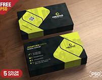 Corporate Business Card Design PSD