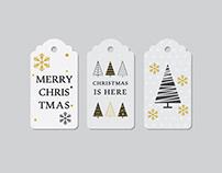 Christmas price tags vector art
