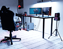 3D visualization of the gaming desk