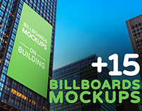 Billboards Mockups on Building Vol.2
