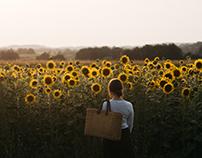 Self Portrait with Sun Flowers
