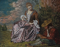 A.Watteau, The Timid Lover- Tempera reproduction 2012