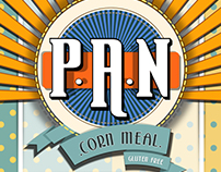 Package redesign. PAN corn meal