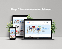 ShopLC home screen refurbishment