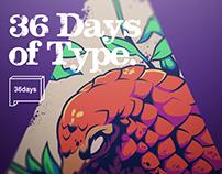 36 Days Of Type - 2020 Animals