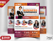 Business Conference Flyer TemplatePSD