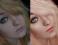Art retouching.