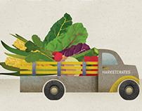 Market Crates Illustrations