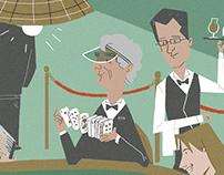Editorial illustration: pokergame