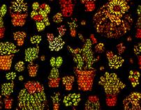 Criação da estampa 🌵 Cactus, com uma dose vintage.