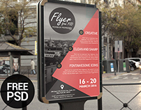 Freebie Business Event Advertisement Flyer Template PSD