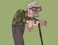Longing old man