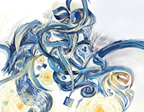 The Starry Night With Arabic Calligraphy