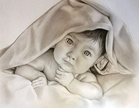 Pencil Drawing Baby