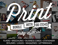 100 Print Templates Bundle with an Extended License – O