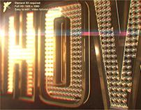After effects template -Showbiz Logo