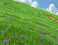 Cartoon Hill Meadow