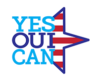 YES OUI CAN Logo Design