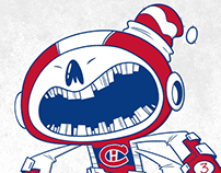 Montreal Canadiens themed, three armed superhero