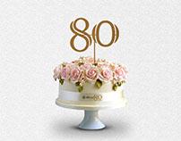 80th Anniversary Logo & Gala Event Design