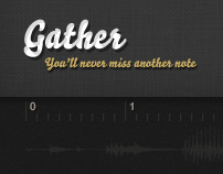Gather - Audio Note Mapping Concept (2012)