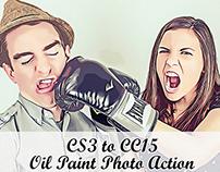 Oil Paint Photo Action CS3 to CC15