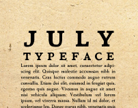 July Typeface