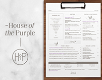 HyundaiCard House of the Purple Menu