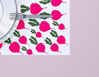 graphic l paper placemat