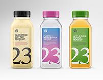Clear Plastic Bottles Mockups