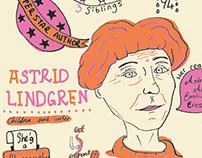 Astrid Lindgren Infographic