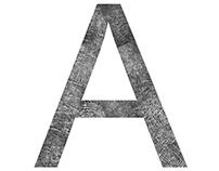 A typeface of my fingerprint