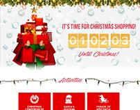 SM Supermalls Christmas Microsite UI/UX Design