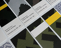The pixeled camouflage samples