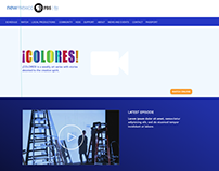 COLORES Website Wireframing