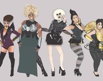 RuPaul's Drag Race Season 4 portraits