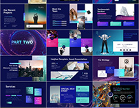 Multicolor Company PowerPoint template