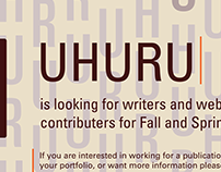 Call for Writers Poster // UHURU
